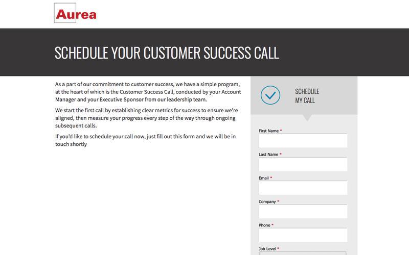 Schedule your Customer Success Call | Aurea