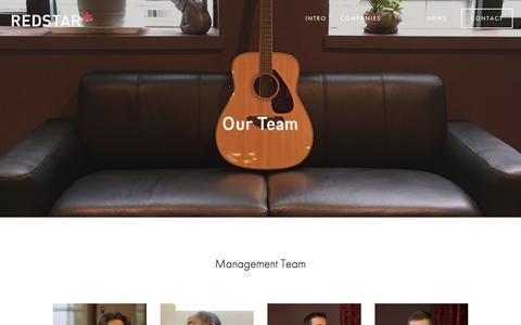 Screenshot of Team Page redstar.com - Team — Redstar Ventures - captured June 16, 2017