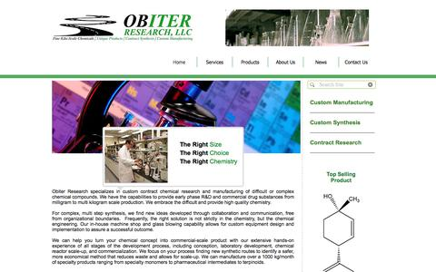 Screenshot of Home Page obires.com - Obiter Research, LLC - captured Oct. 25, 2017