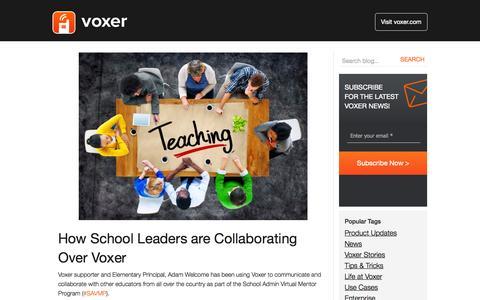 Screenshot of Blog voxer.com - Voxer | Blog - captured Oct. 22, 2014
