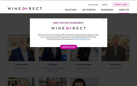 Screenshot of Team Page winedirect.com - Meet The Leadership Team | WineDirect - captured Sept. 20, 2018