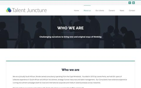Screenshot of About Page talentjuncture.com - About us – Talent Juncture - captured June 16, 2017