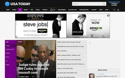 Screenshot of Team Page usatoday.com - Celebrity Photos, Videos and Interviews - USATODAY.com - captured Feb. 4, 2016