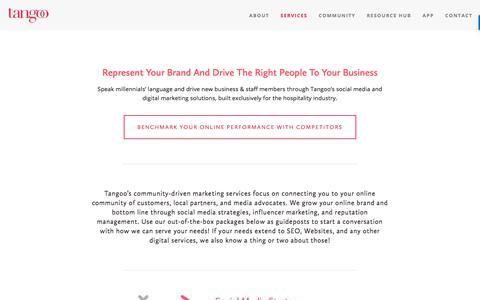Screenshot of Services Page tangoo.ca - Services — Tangoo - captured Nov. 14, 2017