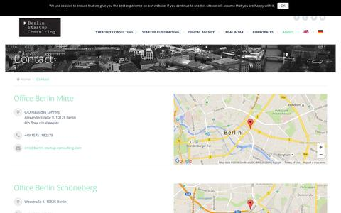 Screenshot of Contact Page berlin-startup-consulting.com captured Jan. 1, 2016