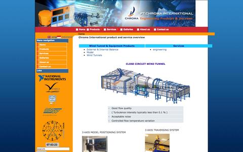 Screenshot of Home Page chromaintegrated.com - Engineering Product & Services - captured Oct. 2, 2014
