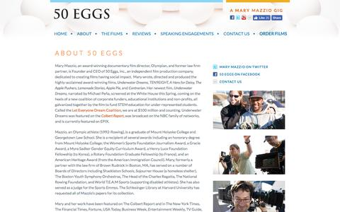 Screenshot of About Page 50eggs.com - About 50 Eggs | 50 Eggs - captured Oct. 25, 2017