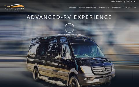Screenshot of Home Page advanced-rv.com - Advanced-RV Experience - Advanced RV - captured May 24, 2016