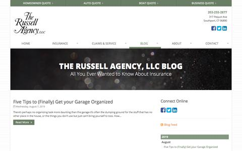 Screenshot of Blog therussellagency.com - Insurance Blog | The Russell Agency, LLC in Southport, Connecticut - captured Oct. 14, 2019