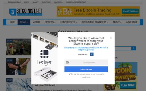 Screenshot of Press Page bitcoinist.net - News Archives - Bitcoinist.net - captured Oct. 2, 2015
