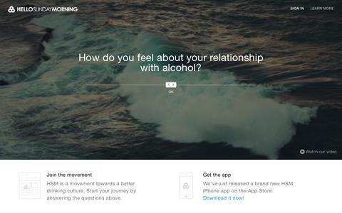 Screenshot of Home Page hellosundaymorning.org - Hello Sunday Morning - captured July 21, 2015