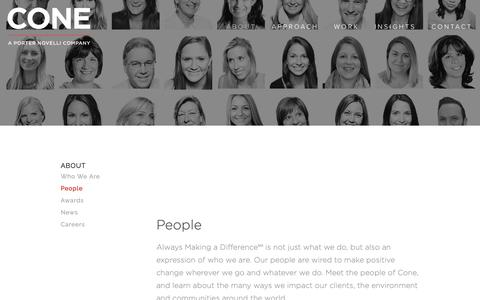 Screenshot of Team Page conecomm.com - People — Cone Communications | Cone | Cone PR | Cone Inc | PR Agency | Boston | NYC - captured Feb. 16, 2019