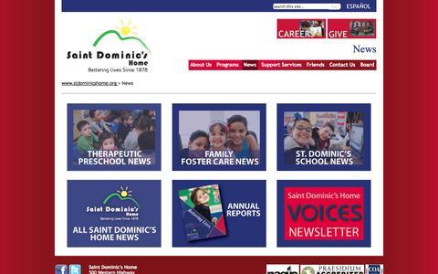 Screenshot of Press Page stdominicshome.org - St. Dominics Home - captured Nov. 2, 2014