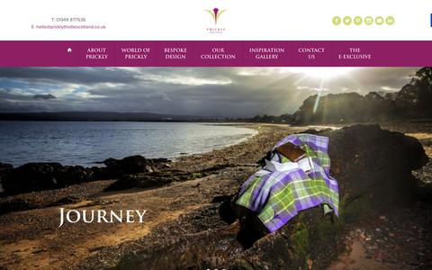 Screenshot of Home Page pricklythistlescotland.co.uk - Bespoke Tartan Design and Products - captured Jan. 31, 2016
