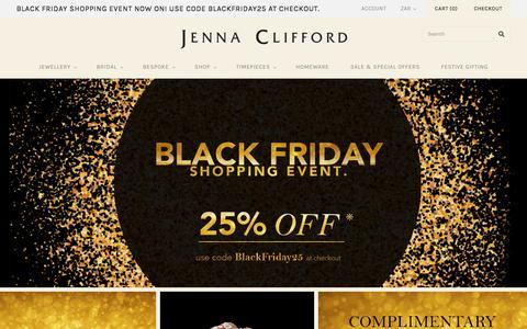 Screenshot of Home Page jennaclifford.com - Jenna Clifford: Bespoke & Fine Diamond Jewellery - captured Nov. 26, 2016