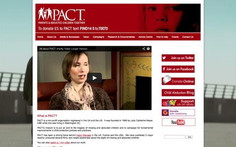 Screenshot of About Page pact-online.org - About Us - What is PACT? | About Us | page content - captured Oct. 1, 2014