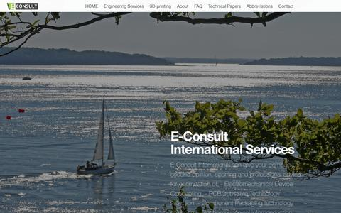 Screenshot of Services Page cwngroup.dk - Econsult » Engineering Services - captured Sept. 25, 2018