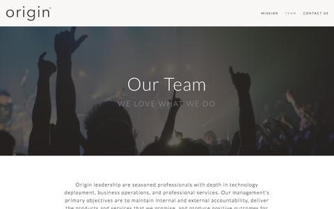 Screenshot of Team Page originincorporated.com - Team — Origin Holdings, Inc - captured Feb. 14, 2016