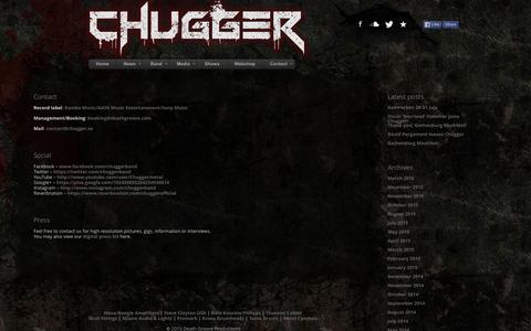 Screenshot of Contact Page chugger.se - Chugger - Official Homepage - captured April 25, 2016