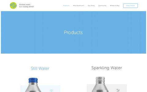 Screenshot of Products Page greensheepwater.com - Products — Green Sheep - captured Sept. 11, 2017