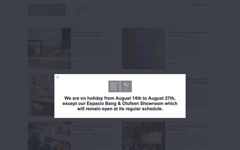 Screenshot of Press Page espaciohdg.com - News   Espacio Home Design Group - captured Aug. 19, 2017