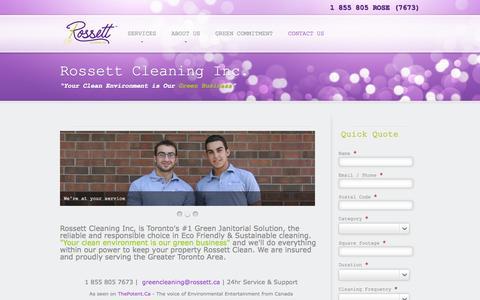 Screenshot of Contact Page rossett.ca - Contact Us - captured Oct. 9, 2014