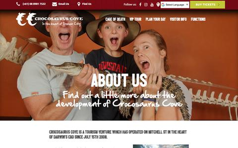 Screenshot of About Page crocosauruscove.com - Croccove | About Us - captured July 22, 2018