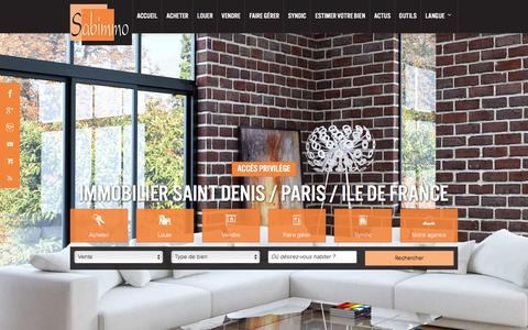Screenshot of Home Page sabimmo.fr - Agence Sabimmo, agence immobilière à Saint Denis - captured Jan. 14, 2016