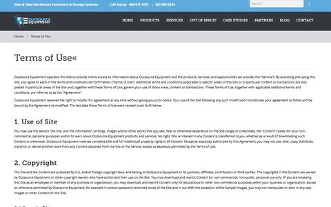 Screenshot of Terms Page osequip.com - Terms of Use - captured Oct. 1, 2014