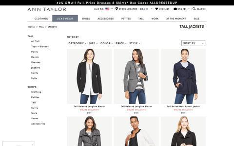 Women's Tall Jackets & Blazers | ANN TAYLOR