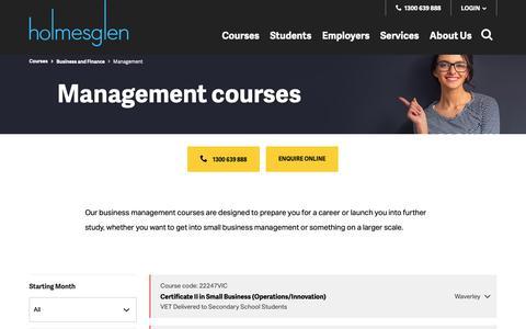 Screenshot of Team Page holmesglen.edu.au - Business management courses | Melbourne TAFE Courses & Degrees, Victoria - captured Sept. 27, 2018