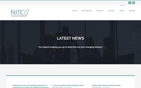 Screenshot of Press Page nitco.gr - News – Nitco - captured Oct. 18, 2018