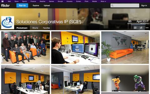 Screenshot of Flickr Page flickr.com - Flickr: Soluciones Corporativas IP (SCIP)'s Photostream - captured Oct. 23, 2014