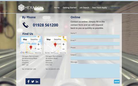 Screenshot of Contact Page hexagonrecruitment.co.uk - hexagon-recruitment | Contact Us. - captured Dec. 13, 2018