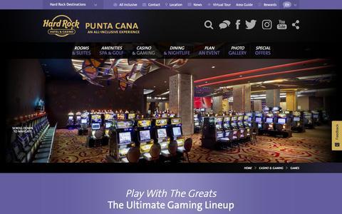 Slots and Video Terminals at Hard Rock Casino Punta Cana, Dominican Republic