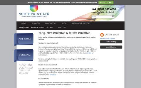 Screenshot of FAQ Page northpoint.ltd.uk - Pipe Coating - Northpoint Ltd - Fence Coating - Resicote - captured Oct. 27, 2017