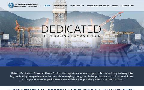 Screenshot of Home Page checksix.com - Homepage - Check-6 - captured Sept. 27, 2018
