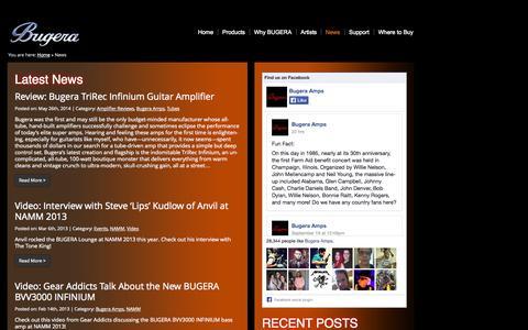Screenshot of Press Page bugera-amps.com - Bugera News | Just another Bugera Sites site - captured Sept. 23, 2014