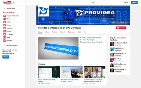 Screenshot of YouTube Page youtube.com - Providea Conferencing an SPS Company  - YouTube - captured Oct. 23, 2014