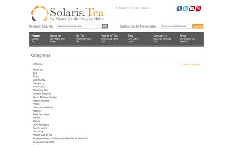 Screenshot of Site Map Page solarisbotanicals.com - Magento Commerce - captured Oct. 26, 2014