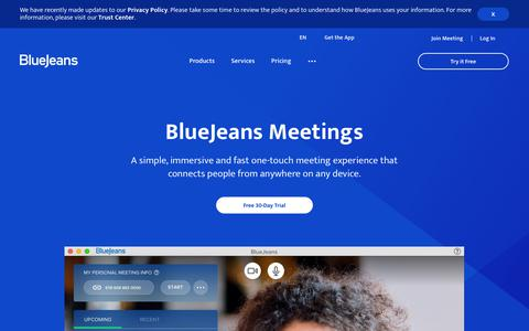 Video, Audio and Web Conferencing Platform | BlueJeans Meetings