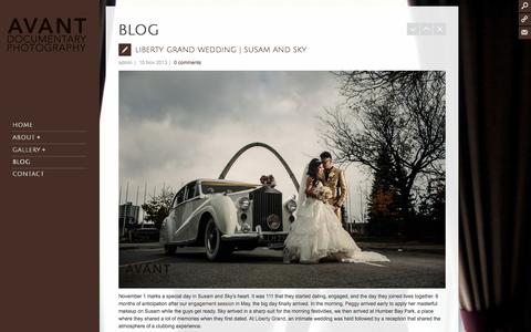 Screenshot of Blog avantdp.com - Avant Documentary Photography >> Toronto Wedding Photographer  » Blog - captured Oct. 4, 2014