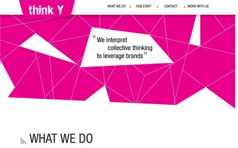 Screenshot of Home Page thinkydigital.com - think Y - captured June 25, 2016