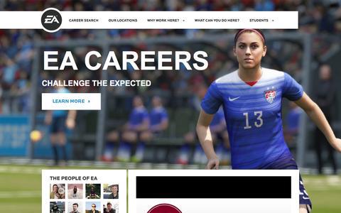 Screenshot of Jobs Page ea.com - Home | EA Careers - captured Dec. 13, 2015
