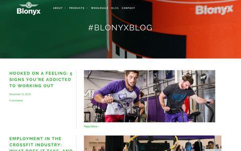 Screenshot of Blog blonyx.com - The Blonyx Blog - captured Nov. 22, 2016