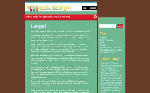 Legal | RO web design