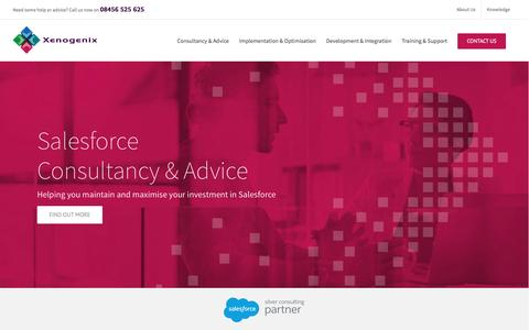 Screenshot of Home Page xenogenix.co.uk - Professional Salesforce Consultancy Services and Suppport - captured Dec. 8, 2016