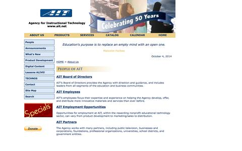 Screenshot of Team Page ait.net - People of AIT - captured Oct. 4, 2014