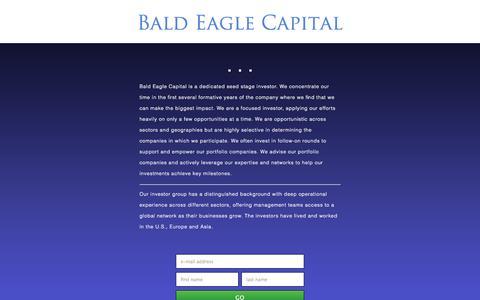Screenshot of baldeaglecapital.com - Bald Eagle Capital - captured Oct. 11, 2014