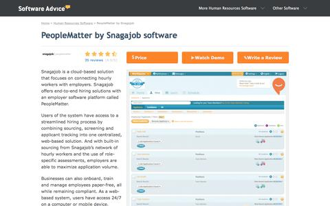 PeopleMatter by Snagajob Software - 2018 Reviews